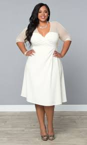 white dresses for plus size women kzdress