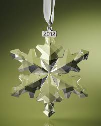 swarovski 2012 swarovski snowflake ornament