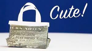 personal money gift idea handbag out of cash youtube