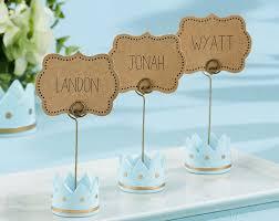 amazon com kate aspen little prince crown place card holders