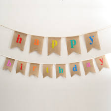online buy wholesale burlap happy birthday bunting from china
