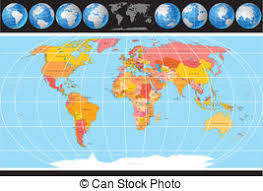 world map with country names political map of world with country names and capital vector