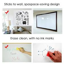 amazon com dry erase wall decal 6 6 feet of adhesive white