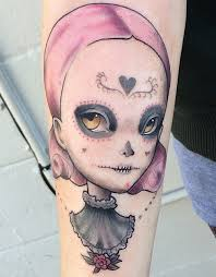 sherri dupree bemis portrait sugar skull forearm