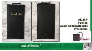 guest check presenters al 2sp restaurant guest check receipt presenter folded black from