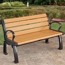 Park Bench Made From Recycled Plastic Plastic Park Benches Foter