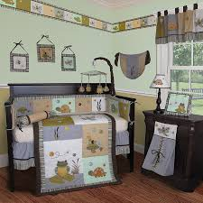 Nursery Bedding And Curtains by Unique Baby Bedding In Frog Theme All Modern Home Designs