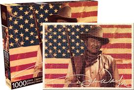 Johns Flag John Wayne Flag Jigsaw Puzzle Puzzlewarehouse Com