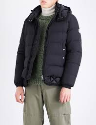 moncler tanguy padded jacket in black for men lyst