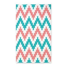 Teal Chevron Area Rug Coral And Teal Rugs Roselawnlutheran
