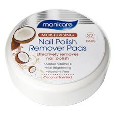 buy moisturising nail polish remover pads coconut scented 32 pack