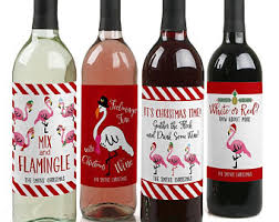 wine bottle christmas ideas wine labels etsy