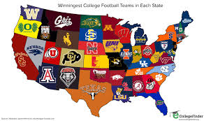 Illinois On A Map by Total Frat Move Map Shows The Winningest College Football