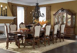 Michael Amini Dining Room Furniture Tuscano Melange Trestle Dining Room Set By Michael Amini Aico
