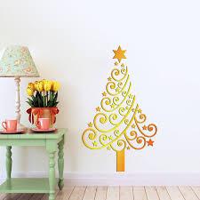 christmas design christmas tree font b yellow b font vinyl font b christmas tree font b yellow b font vinyl font b wall b font font b sticker