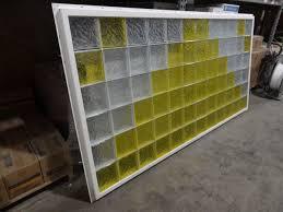 vinyl framed glass block window for bathrooms kitchens garage