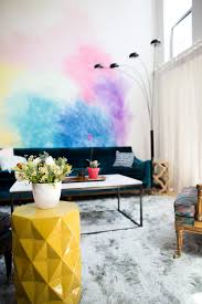 Watercolor Wallpaper For Walls by Mr Kate Diy Watercolor Mural Wall