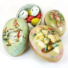 easter egg paper mache vintage papier mache easter egg container 3 sizes pipii