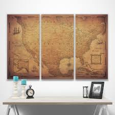 Usa Travel Map by Usa Travel Map Pin Board W Push Pins Golden Aged Conquest Maps