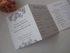 personalized wedding programs tri fold wedding program flourish personalized wedding