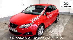 2011 seat ibiza sport coupe se 1 4l red metallic hg11jvr for sale