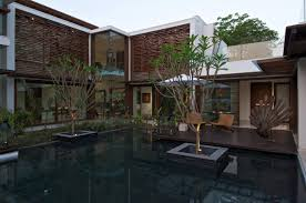 house with courtyard water feature courtyard house by hiren patel architects