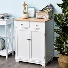 white storage cabinet for kitchen homcom space saving kitchen buffet sideboard pantry with functional storage cabinet with adjustable shelf for kitchen white