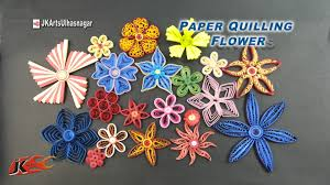 tutorial 20 paper quilling flowers how to make beautiful