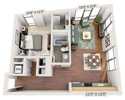floor plans and pricing for view 14 washington dc one bedroom a1b