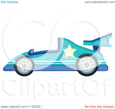 teal car clipart cartoon of a driving a purple race car royalty free vector