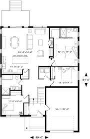 bi level house floor plans split level house plans no garage house plans
