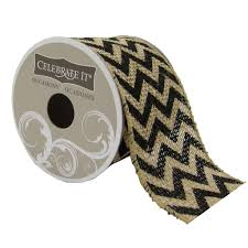 burlap wired ribbon 2 5 burlap wired chevron ribbon by celebrate it occasions