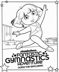 free printable gymnastics coloring pages for kids 29663
