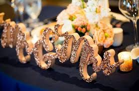 Mr And Mrs Sign For Wedding Glitter Mr And Mrs Sign For Wedding Sweetheart Table Mr And Mrs