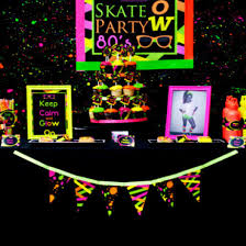 glow party supplies neon party printables package by lillian designs on etsy