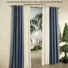Outdoor Curtains With Grommets Gazebo Stripe Indoor Outdoor Curtain Panels