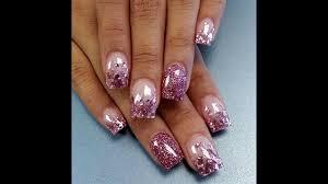 acrylic nail designs almond easy nail designs youtube