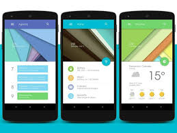 android app design this homescreen design inspired by android l via xda