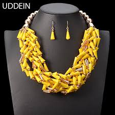beads jewelry necklace images African beads jewelry set multi layer bead crystal choker necklace jpg
