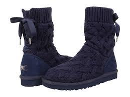 s isla ugg boot ugg s isla navy knit boots