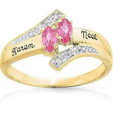 gold promise rings keepsake personalized delight marquise promise ring with