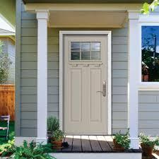 jeld wen premium 6 lite craftsman primed white steel entry door