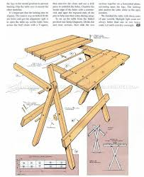 Foldable Picnic Table Plans by Folding Table Plans U2022 Woodarchivist