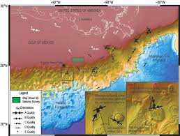 Map Gulf Of Mexico by Stress Deflections Around Salt Diapirs In The Gulf Of Mexico