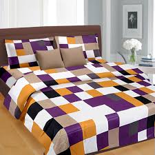 buy bed sheets blue check pattern double bed sheet 699 00 king size double bed