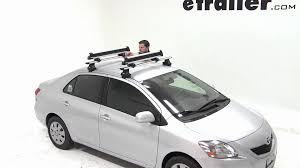 toyota yaris roof rack review of the thule flat top ski and snowboard carrier on a 2012