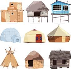 traditional building house igloo hut cabinet cabin tent bungalow