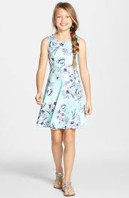 trixxi floral print skater dress big girls available at