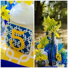 cobalt blue and yellow tablescape archives fleur de lis event