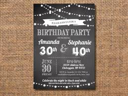 informal invitation birthday party joint birthday party invitation black and white birthday